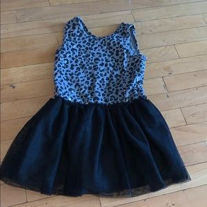 The children's place 5/6 leopard tutu dress